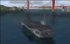 Aircraft carrier in default scenery - Microsoft Flight